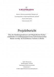 ProjektberichtTacheles
